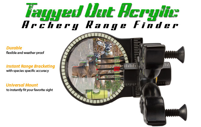 Tagged Out Acrylic Archery Range Finder - Durable Instant Range Bracketing with Universal Mount