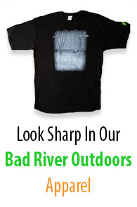 Look sharp in our Bad River Outdoors Apparel